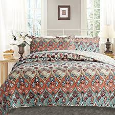 Colorful Coverlets Amazon Com Madison Park Claire 6 Piece Quilted Coverlet Set King