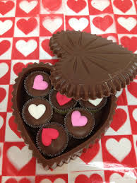 chocolate heart candy solid chocolate heart candy box filled with chocolate party cups