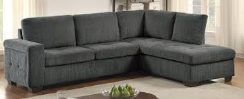 homelegance calby lane sleeper sectional grey 8433 sectional
