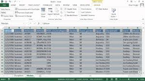 tutorial pivot table excel 2013 microsoft office excel 2013 tutorial importing data as a table or