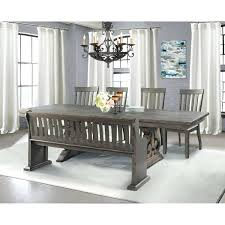gray dining table with bench grey wood dining chairs high society stone ash grey wood dining set
