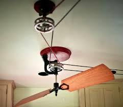 diy belt driven ceiling fans amazing pulley ceiling fan throughout belt driven diy fans ideas