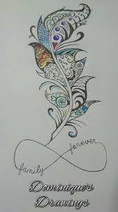 family forever feather design sephira85 someting like this