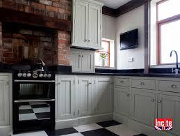 handmade bespoke grooved panel door detail painted kitchen