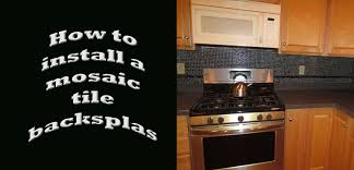 How To Install Glass Mosaic Tile Backsplash In Kitchen How To Install Glass Marble Mix Mosaic Tile With A Pencil Border