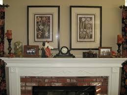 living room classic red oak crafted mantel shelf concrete stone