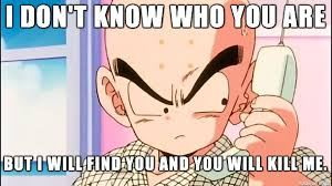 Krillin Meme - gettin real tired of your shit krillin shenron probably