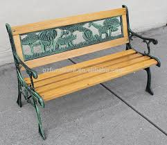 vine cast aluminum brown curved back ft outdoor metal bench image