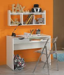 l shaped corner study table ade of wood in white finish cpmbined