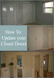 Bedroom Doors For Cheap Best 25 Closet Door Makeover Ideas On Pinterest Door Makeover