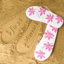 honeymoon gifts white pink honeymoon flip flops at toxicfox co uk