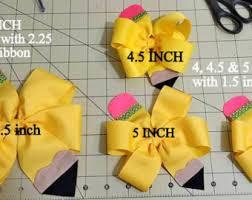 back to school hair bows pencil hair bow pencil hair clip back to school bows yellow