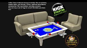 Gaming Coffee Table Table Of Ultimate Gaming The Ultimate Table By Wood Robot