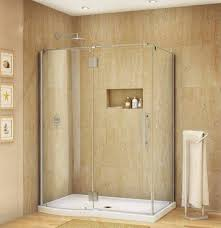 Shower Stalls For Small Bathrooms by Frameless Corner Shower Stalls For Small Bathrooms With Tempered