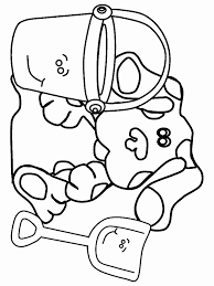blues clues coloring pages pail shovel coloringstar