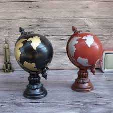 aliexpress com buy household decor globe tellurion money box