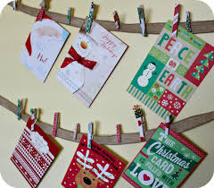 christmas card holder diy garland christmas card holder the denver