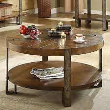 Round Coffee Table With Shelf Interesting Round Coffee Table With Shelf With Collection In Round