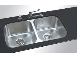 AFA Flow  Umnt Double Bowl Sink No Taphole SS From Reece - Kitchen double sink