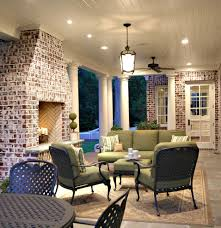 brick fireplace makeover for a contemporary spaces with a outdoor