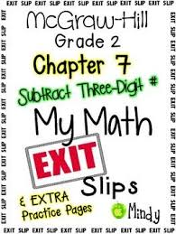 8 best my math images on pinterest mcgraw hill exit slips and