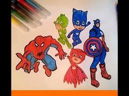superheroes pj masks coloring book kids learn coloring