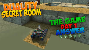 tanki online the game answer day 1 duality secret room youtube