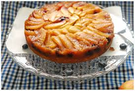 upside down apple and blueberry cake jo the tart queen