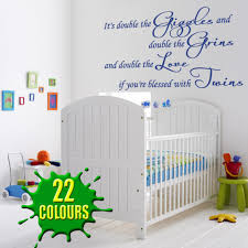 it s double the giggles children s wall decal baby children cobalt it s double the giggles children s wall decal over