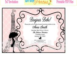 Eiffel Tower Invitations Baby Shower Invitations Paris Baby Shower Invitations Free