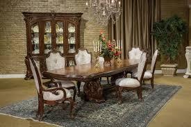 aico villa di como dining set in portobello finish usa furniture