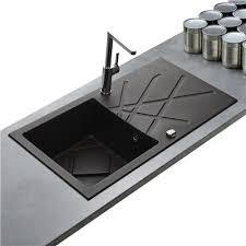 evier cuisine noir 1 bac evier cuisine granit de qualit en noir la marque kumbad curuba bac