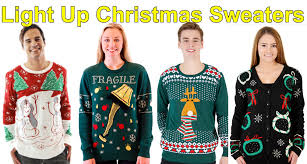 light up christmas sweaters black cardigans crazy snowmen and more