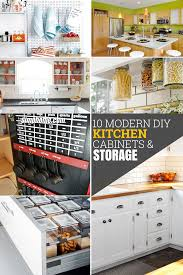 kitchen cabinet colors diy 10 diy modern kitchen cabinet ideas and storage simphome