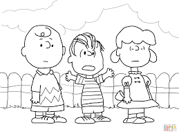 charlie brown lucy linus coloring free printable