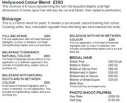 bridal hair prices price list hair by