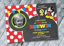 mickey mouse birthday invitation design 2 year old boy