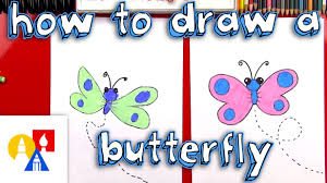 how to draw a cartoon butterfly sya youtube