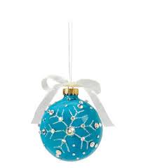 snowflake glass ornament with rhinestones christmas diy
