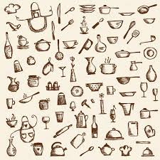 kitchen utensils design kitchen utensils sketch drawing for your design u2014 stock vector