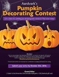Enter Aardvark s Pumpkin Decorating Contest – Deadline October