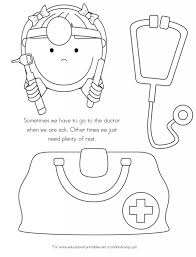 no more spreading germs coloring pages for kids and doctor tools
