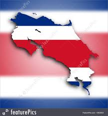Costarican Flag Flags Map Of Costa Rica And Flag Stock Image I3633424 At