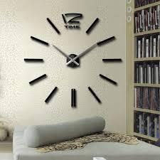 Large Mirrored Wall Clock Beautiful Diy Modern Wall Clock 72 Large Silver Modern Diy Home