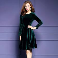 plus size womens velvet dresses