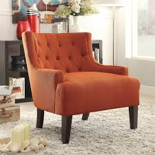 dulce orange accent chair for 269 94 furnitureusa