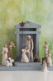 crèche for the nativity willow tree