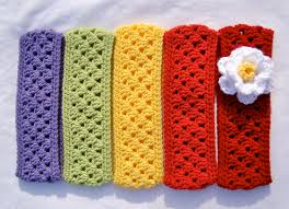crochet ear warmer headband tangled happy stripe headband earwarmer