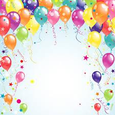 balloon ribbon balloon ribbon happy birthday background free vector in