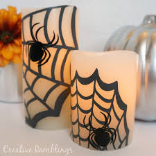 Pottery Barn Pillar Candles Halloween Spider Candles Pottery Barn Knock Off Creative Ramblings